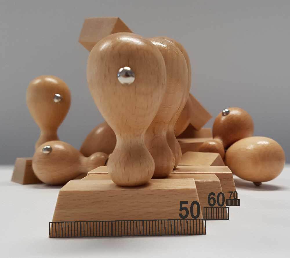 Holzstempel 5-7 cm Breite
