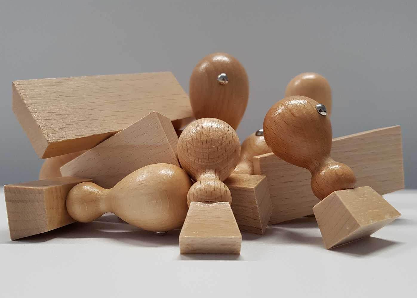 Holzstempel (eckig)