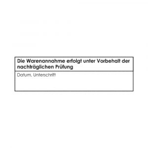 Wareneingangsstempel WE-2