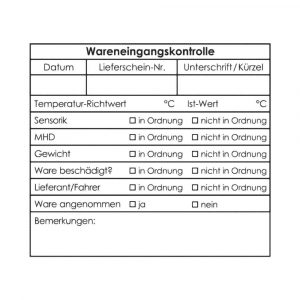 Wareneingangsstempel WE-5